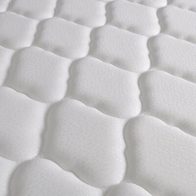 vidaXL Bett mit Memoryschaum-Matratze Weiß Kunstleder 90×200 cm