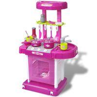 vidaXL Spielküche mit Licht und Soundeffekten Rosa