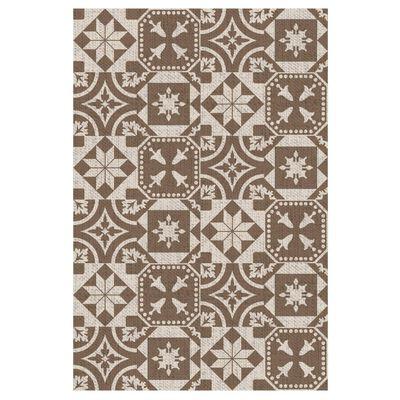 Esschert Design Outdoor-Teppich 182x122 cm Portugiesische Fliesen