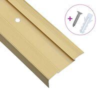 vidaXL Treppenkanten in L-Form 15 Stk. Aluminium 100 cm Golden