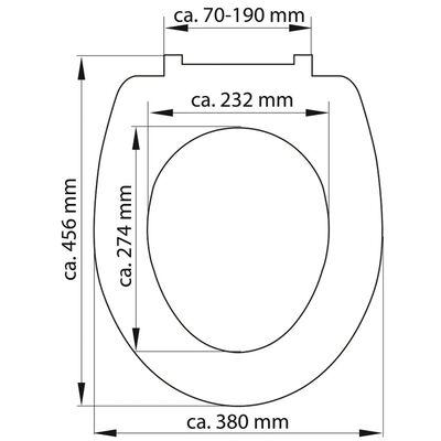 SCHÜTTE Toilettensitz mit Absenkautomatik SLIM ANTHRAZIT Duroplast
