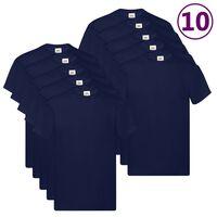 Fruit of the Loom Original T-Shirts 10 Stk. Marineblau 5XL Baumwolle