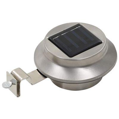 vidaXL Outdoor Solarleuchten 6 Stück LED Rund 12 cm Weiß