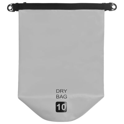 vidaXL Trockensack Grau 10 L PVC