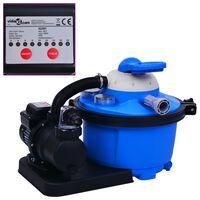 vidaXL Sandfilterpumpe mit Timer 450 W 25 L