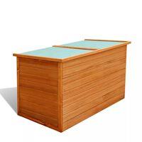 vidaXL Garten-Aufbewahrungsbox 126×72×72 cm Holz