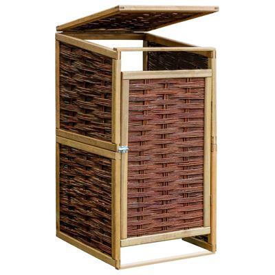 vidaXL Mülltonnenbox für 1 Tonne Kiefernholz und Weide
