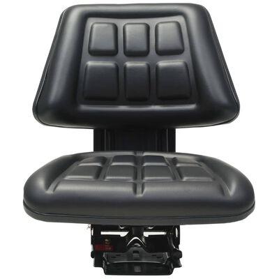 vidaXL Traktorsitz mit Federung Schwarz