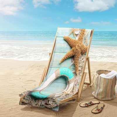 Good Morning Strandtuch JIMMY 100×180 cm Aquablau