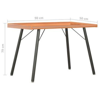 vidaXL Schreibtisch Braun 90×50×79 cm