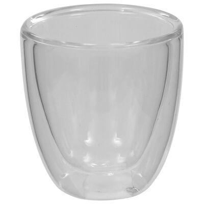 vidaXL Doppelwandiges Thermoglas für Espresso 12 Stk. 80 ml