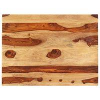 vidaXL Tischplatte Massivholz Palisander 25-27 mm 60×90 cm