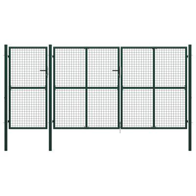 vidaXL Gartentor Stahl 400 x 150 cm Grün