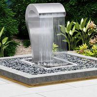 vidaXL Garten-Wasserfall Silbern 52,4x34,2x82 cm Edelstahl