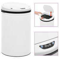 vidaXL Automatischer Sensor-Mülleimer 30 L Kohlenstoffstahl Weiß