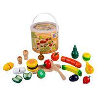 Happy People Spielzeug-Lebensmittel Obst und Gemüse Holz Mehrfarbig