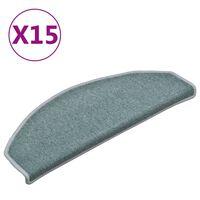 vidaXL Treppenmatten 15 Stk. Blau 65x24x4 cm