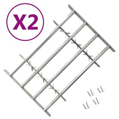vidaXL Fenstergitter Verstellbar für Fenster 2 Stk. 1000-1500 mm
