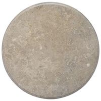 vidaXL Tischplatte Grau Ø70x2,5 cm Marmor