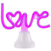 Wofi Neon-Tischleuchte Love Lila