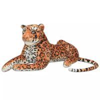 vidaXL Leopard Plüschtier Braun XXL