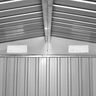 vidaXL Gartenschuppen Grau Metall 257 x 205 x 178 cm