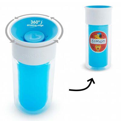 Munchkin Isolierter Trinkbecher Miracle 360° Personalisierbar Blau