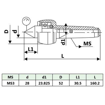 vidaXL Zentrierspitze MT3