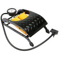 VOREL Doppelzylinder-Fußluftpumpe mit Manometer