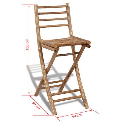 vidaXL 3-tlg. Bistro-Set Bambus