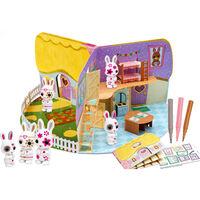 Fuzzikins Pop-Up 3D Puppenhaus