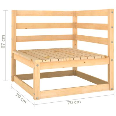 vidaXL Gartensofa 2-Sitzer mit Kissen Kiefer Massivholz