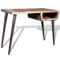 vidaXL Tisch mit Eisenbeinen Altholz