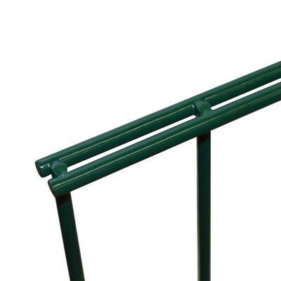 vidaXL 2D Gartenzaun-Elemente 2,008x0,83 m Gesamtlänge 4 m Grün