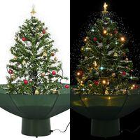 vidaXL Schneiender Weihnachtsbaum mit Schirmfuß Grün 75 cm