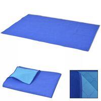vidaXL Picknickdecke Blau und Hellblau 150x200 cm