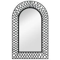 vidaXL Wandspiegel gewölbt 50 x 80 cm Schwarz