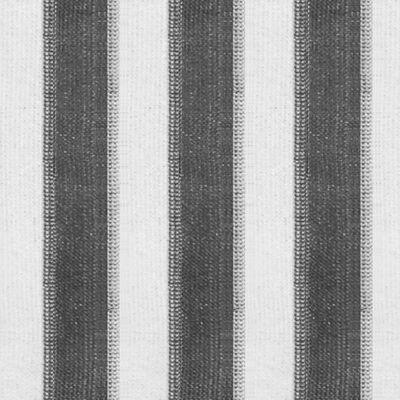 vidaXL Außenrollo 140 x 140 cm Anthrazit und Weiß Gestreift