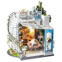 Robotime Miniatur Modellbausatz Dora's Loft mit LED-Beleuchtung