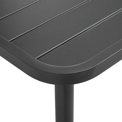 vidaXL Garten-Esstisch Stahl 80x80x72 cm Dunkelgrau Lattendesign