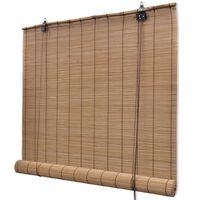 Braunes Bambusrollo 120 x 160 cm