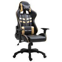 vidaXL Gaming-Stuhl Golden Kunstleder