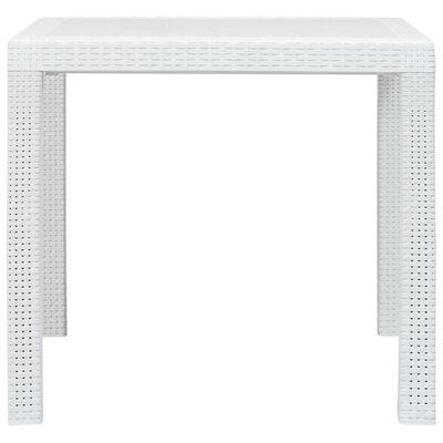 vidaXL 3-tlg. Bistro-Set Kunststoff Weiß Rattan-Optik