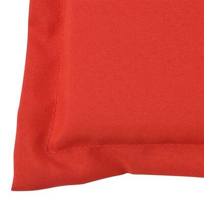 vidaXL Gartenstuhl Auflage Hochlehner 2 Stk. Rot 120 x 50 x 3 cm