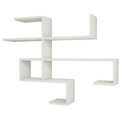Homemania Wandregal Mild 121,5x22x88,6 cm Weiß