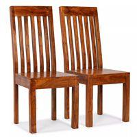 vidaXL Esszimmerstühle 2 Stk. Massivholz mit Palisander-Finish Modern