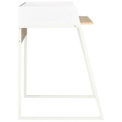 vidaXL Schreibtisch Weiß und Eiche 90x60x88 cm