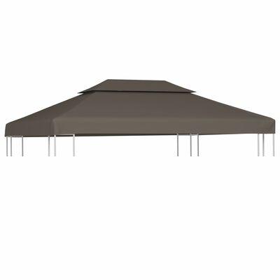 vidaXL Dachplane für Pavillon mit Kaminabzug 310 g/m² 4×3 m Taupe