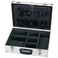 Draper Tools Werkzeugkoffer Aluminium 33×46×15 cm Schwarz