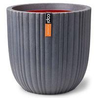 Capi Pflanzgefäß Urban Tube Kugelform 54x52 cm Dunkelgrau